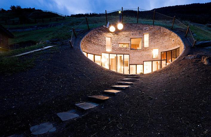 Villa Vals House inside a hill 2