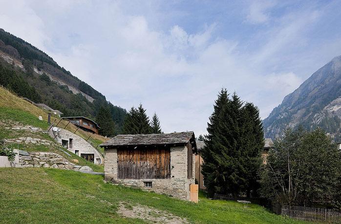 Villa Vals House inside a hill 3
