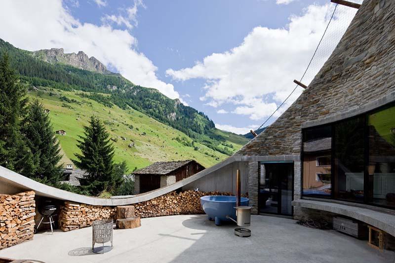 Villa Vals House inside a hill 4