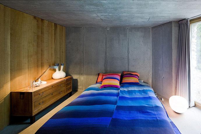 Villa Vals House inside a hill bedroom
