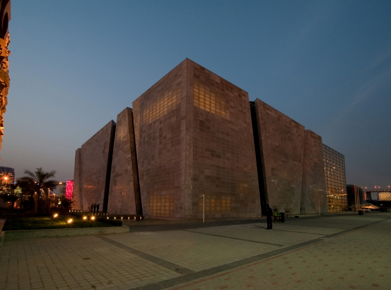 Italian Pavilion using transparent cement at China Expo 1