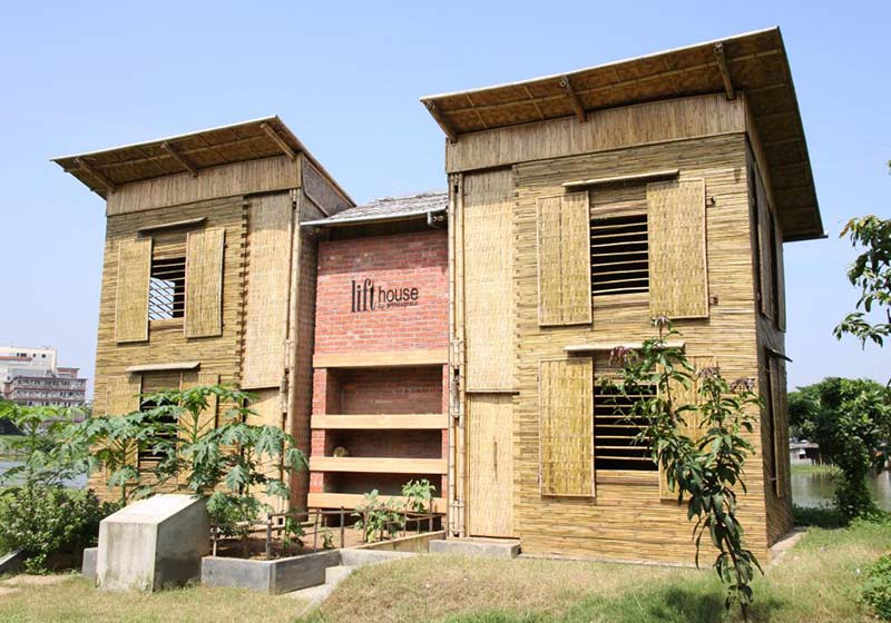 Sustainable low cost flood proof house the lift for Bangladeshi building design