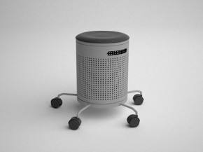 2-In-1 Office Stool And Dustbin From Aissalogerat