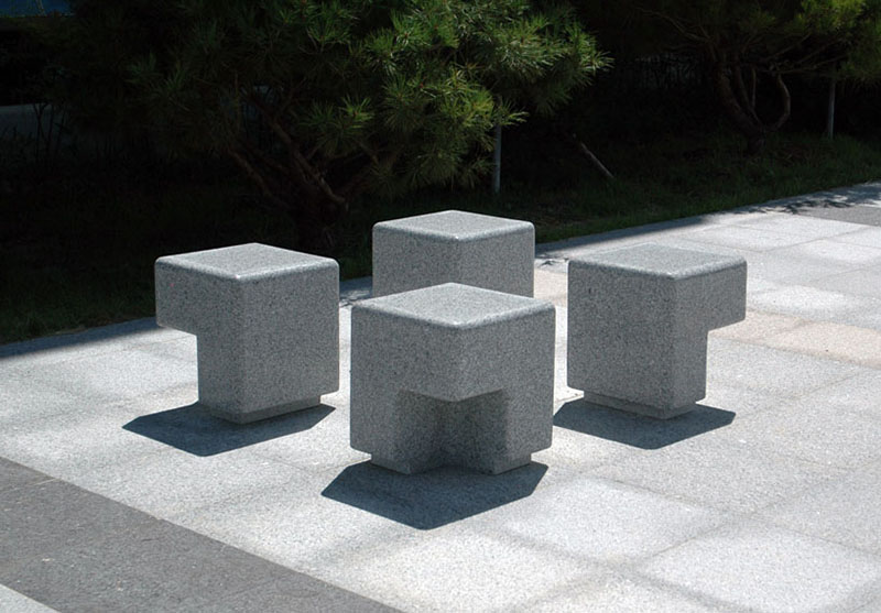 Cube Outdoor Bench By Kim Hyunjoo