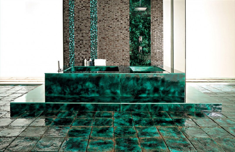 Green Vibrations Tiles collection by Franco Pecchioli 1