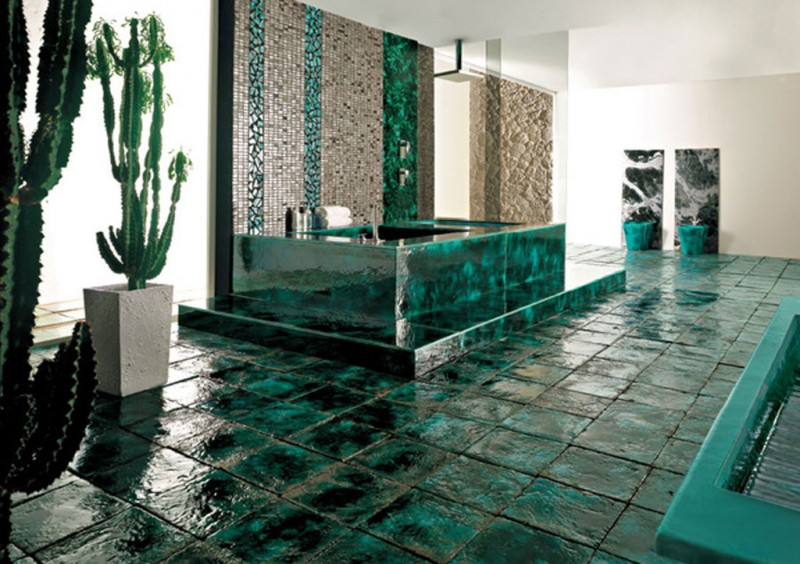 Green Vibrations Tiles collection by Franco Pecchioli 2