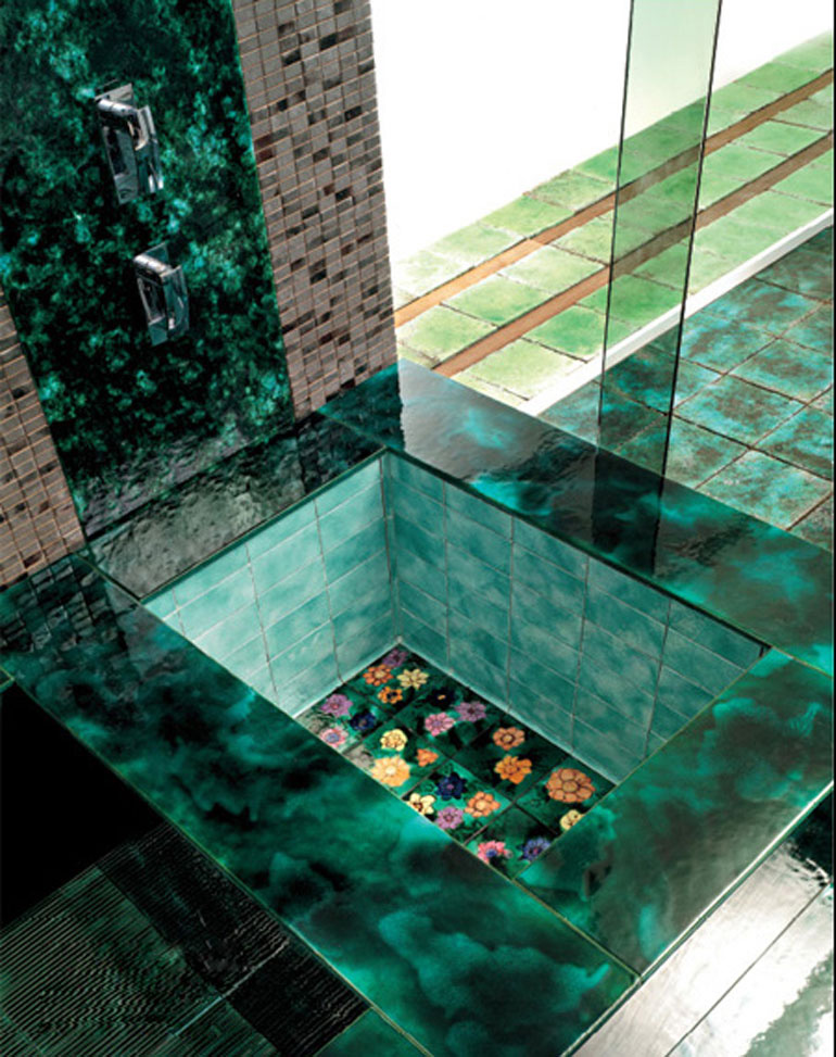 Green Vibrations Tiles collection by Franco Pecchioli 4