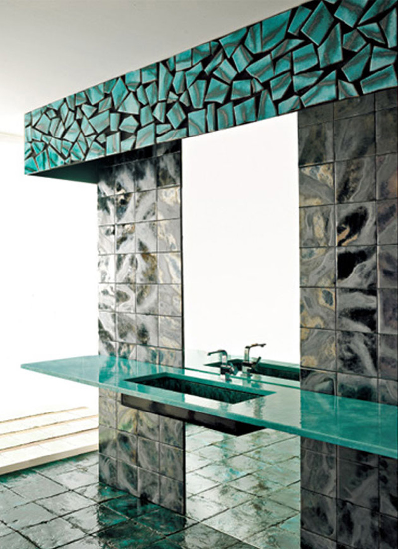 Green Vibrations Tiles collection by Franco Pecchioli 5