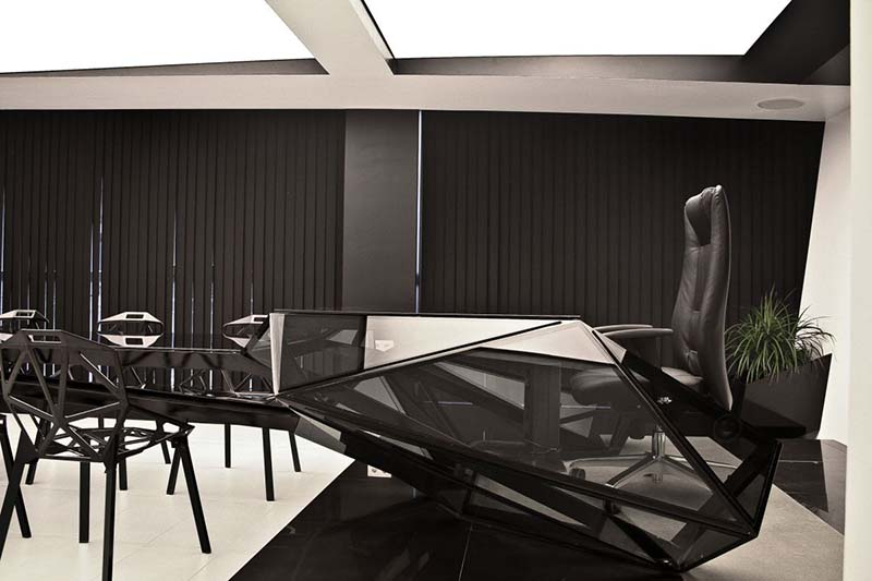 Hybrid office desk and conference table by Jovo Bozhinovski 8