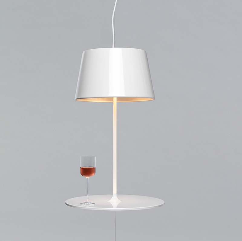 Illusion Hanging Lamp cum Table by Hareide Design 1