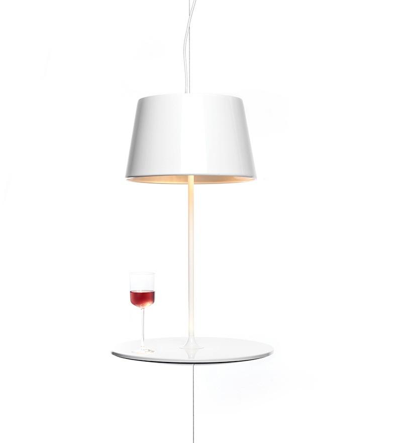 Illusion Hanging Lamp cum Table by Hareide Design 4