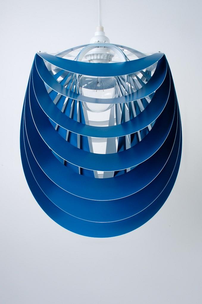 Kinema Pendant Luminaire Blue color By Stuart Fingerhut 2