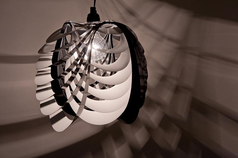 Kinema Pendant Luminaire White color By Stuart Fingerhut 1
