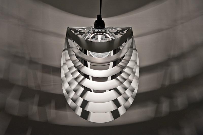 Kinema Pendant Luminaire White color By Stuart Fingerhut 3