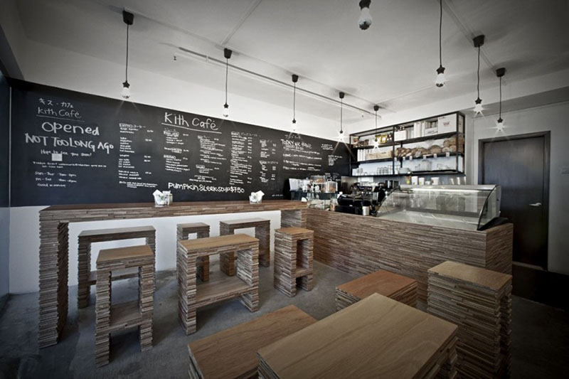 Kith cafe interior design by hjgher for Interior cafe designs