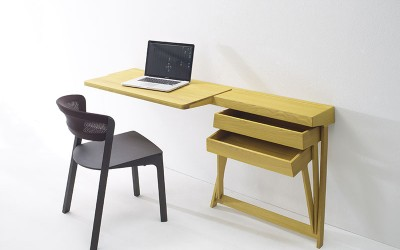 Pivot Desk And Pivot Vanity by Shay Alkalay