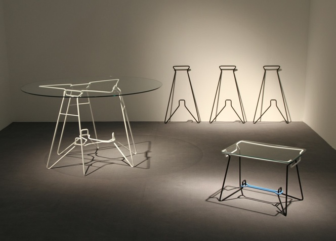 SP-7 bent wire frame furniture at imm cologne 2011