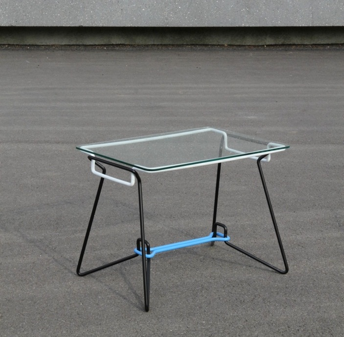 SP-7 bent wire frame coffee table 1