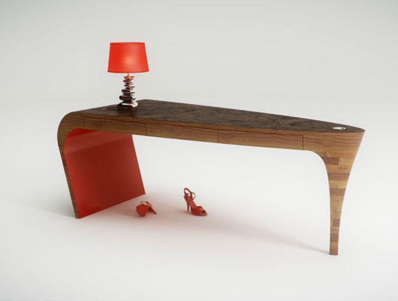 Feminine table design Stiletto by Splinter Design 1