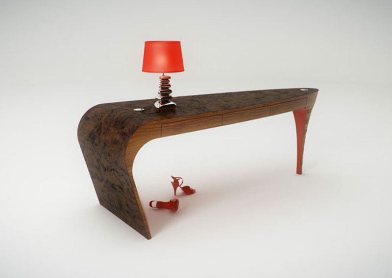 Feminine table design Stiletto by Splinter Design 2