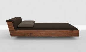 Fusion Solid Wood Bed by Zeitraum