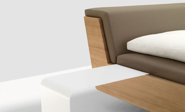 Fusion Solid Wood Bed by Zeitraum 10