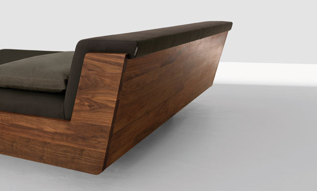 Fusion Solid Wood Bed by Zeitraum 5