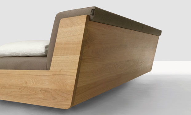 Fusion Solid Wood Bed by Zeitraum 9