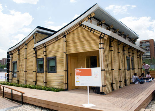 Eco-Friendly Sustainable Bamboo Solar House 1