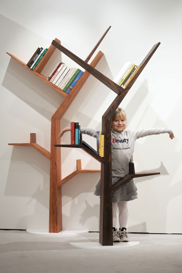 A Bookcase Shaped Like Tree By Kostas Design