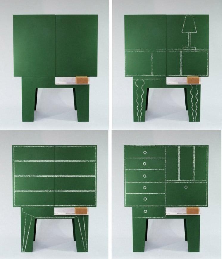 Blackboard - Chalkboard storage cabinet 1