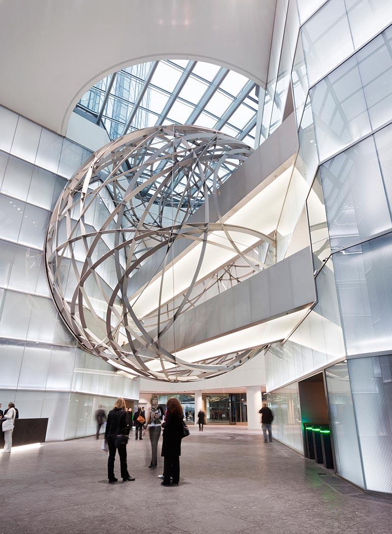 Deutsche bank entrance sphere by mario bellini