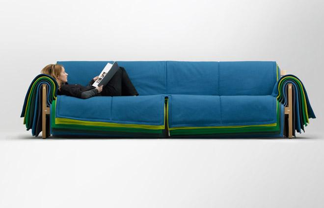 filo sofa - colorful living room furniture