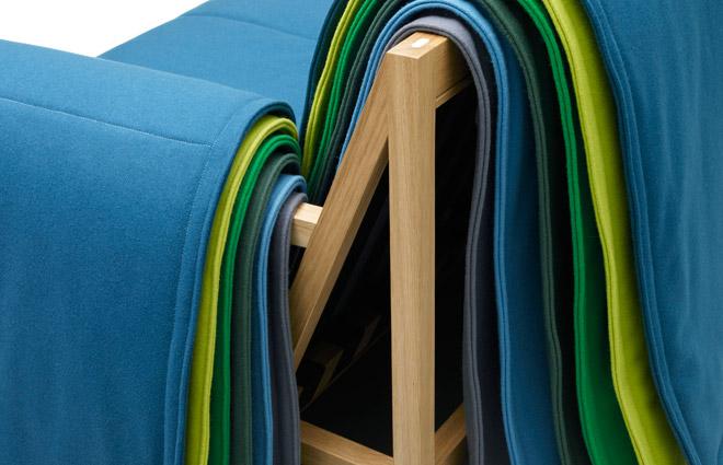 Colorful Living Room Furniture Filo Sofa 4