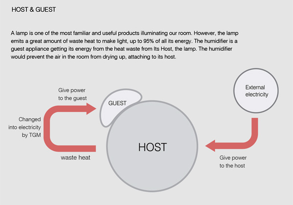 Host Lamp with humidifier