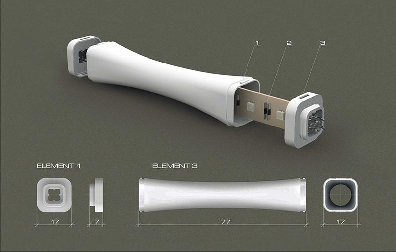 Flexible Modular Lighting System Modli 3