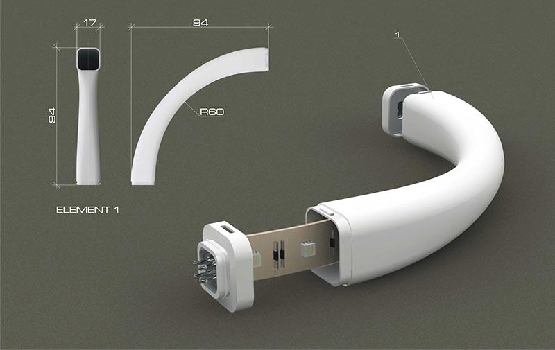 Flexible Modular Lighting System Modli 4