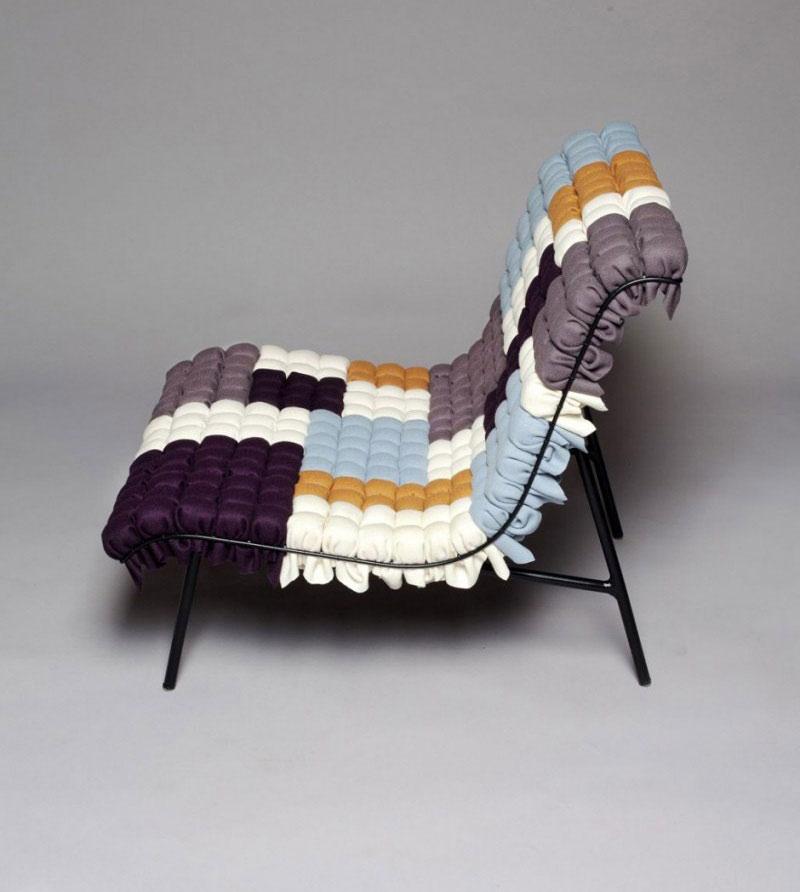 Mosaiik colorful lounge chair by Annika Goransson 3