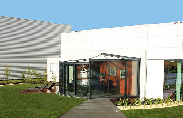Modern Outdoor Glass Extension Veranda OpenSun 2