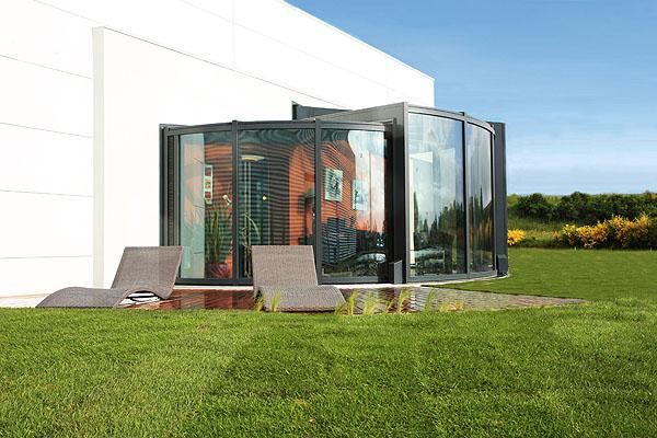 Modern Outdoor Glass Extension Veranda OpenSun 3
