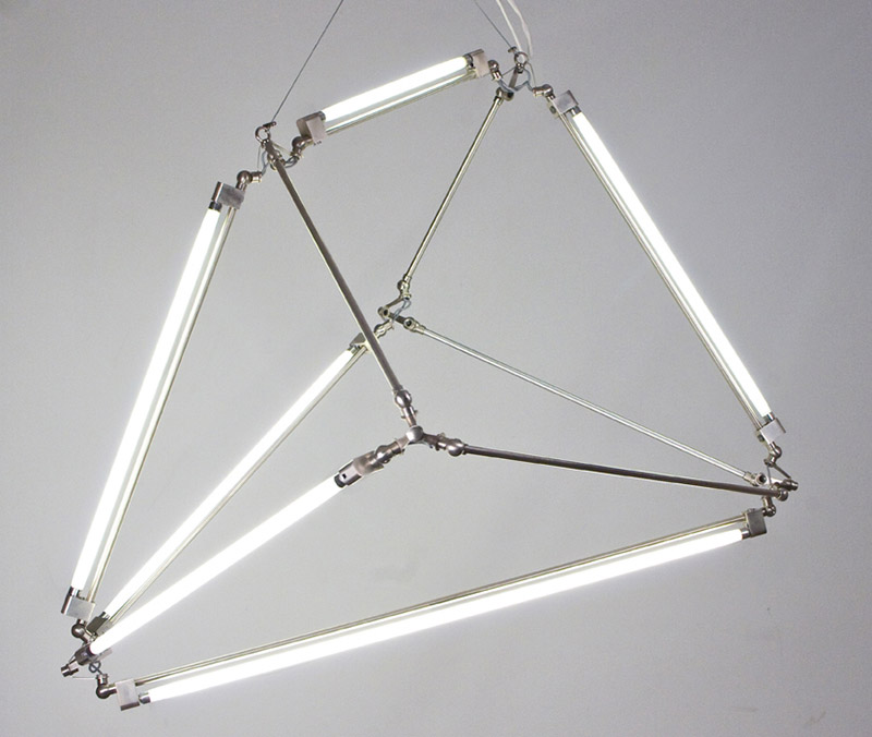 Thin LED Tube Lamp SHY Light by Bec Brittain 1