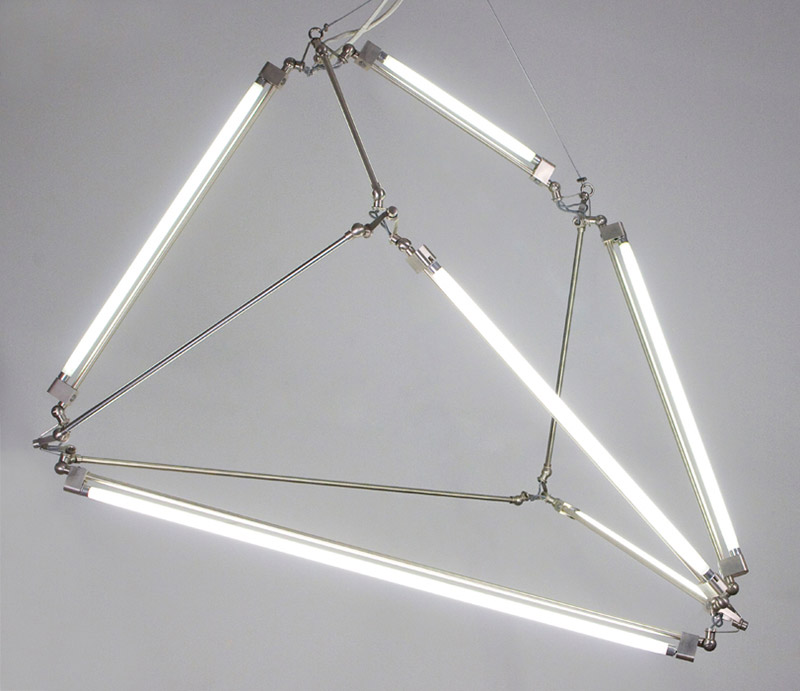 Thin LED Tube Lamp SHY Light by Bec Brittain 2