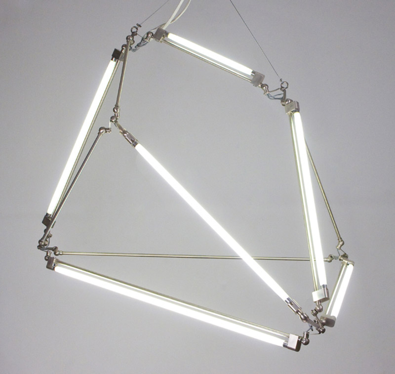 Thin LED Tube Lamp SHY Light by Bec Brittain 3