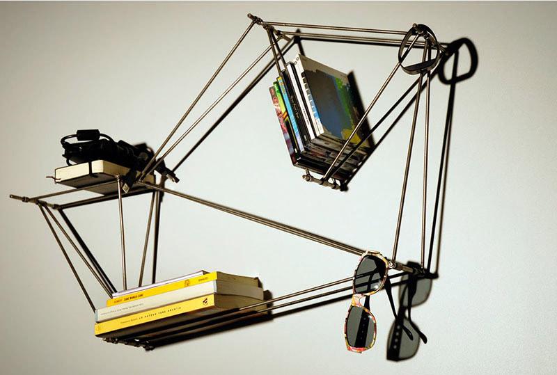 Modular Wire-Frame Bookshelf design