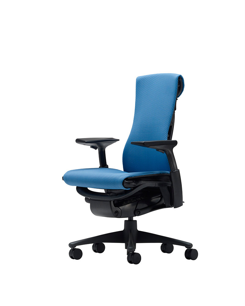 Blue color office chair Embody
