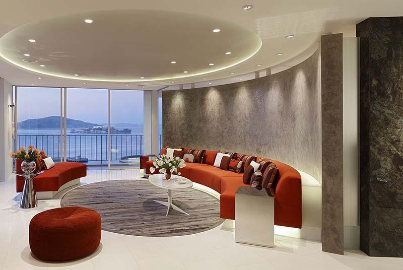 Fontana Apartment Living Room Interiors by Mark English Architects 1