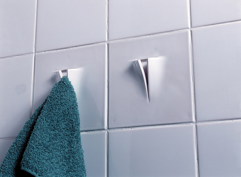 Functional Tile with towel hanger by DTILE