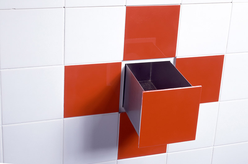 Functional Tiles with built-in drawer by DTILE