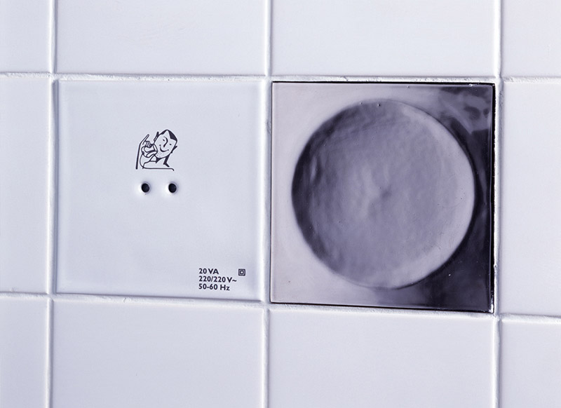 Functional Tiles with socket by DTILE