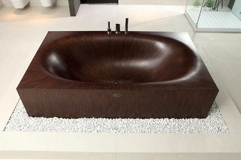 Wooden Bathtub Laguna by Alegna 2